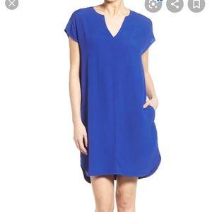 Madewell womens blue Du Jour tunic dress XS